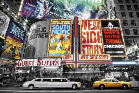 Plakat Nowy Jork - theatre signs