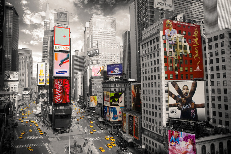 Plakat Nowy Jork - Times square 2