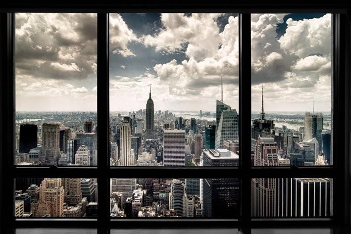 Plakat Nowy Jork - window