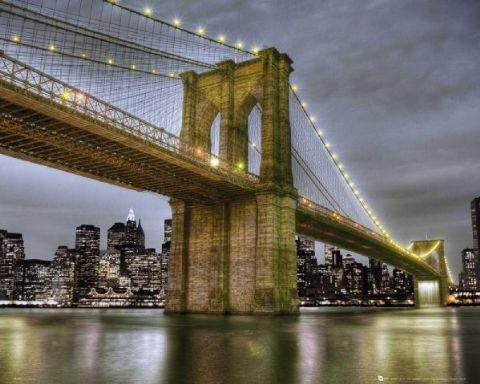 Plakat NY Brooklyn bridge 2