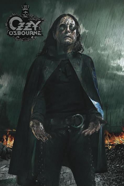 Plakat Ozzy Osbourne - black rain