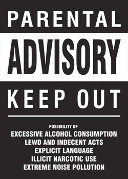Plakat Parental advisory - keep out