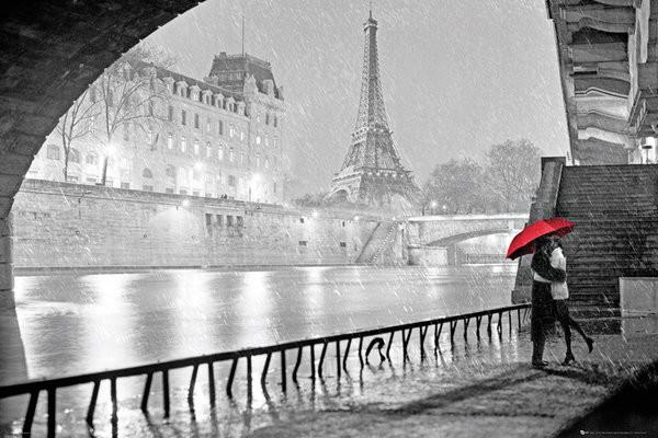 Plakat Paryz - Eiffel tower kiss