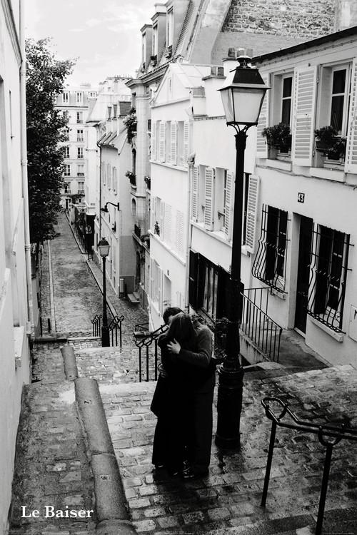 Plakat Paryz - le baiser