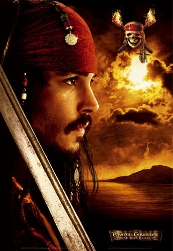 Plakat Pirates of Caribbean - Depp profile