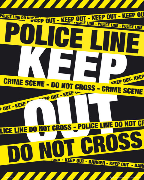 Plakat POLICE TAPE - keep out