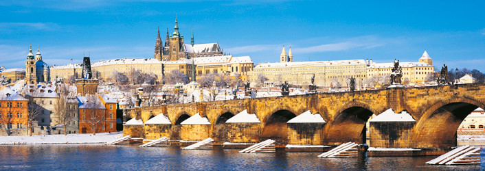 Plakat Prague – Prague castle / winter