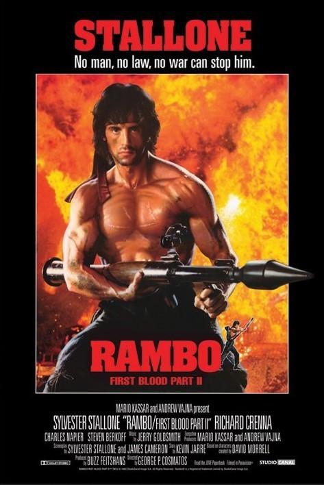 Plakat RAMBO - first blood part 2