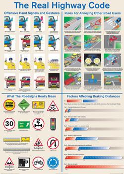 Plakat Real highway code