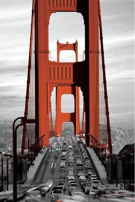 Plakat San Francisco - golden gate bridge