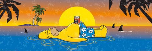 Plakat SIMPSONS - Homer shark