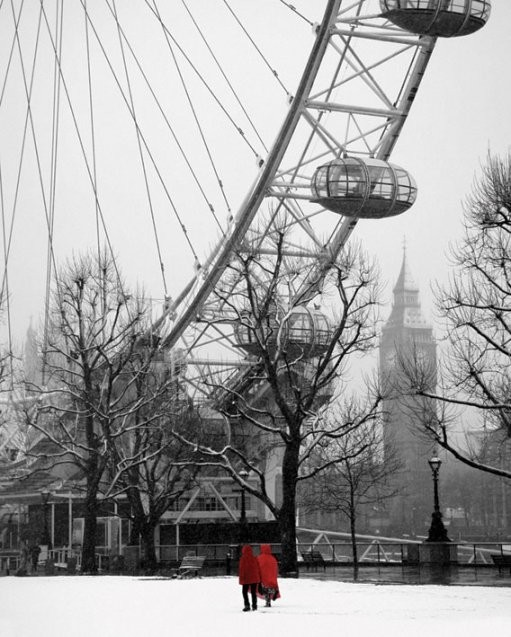 Plakat Snow on the south bank