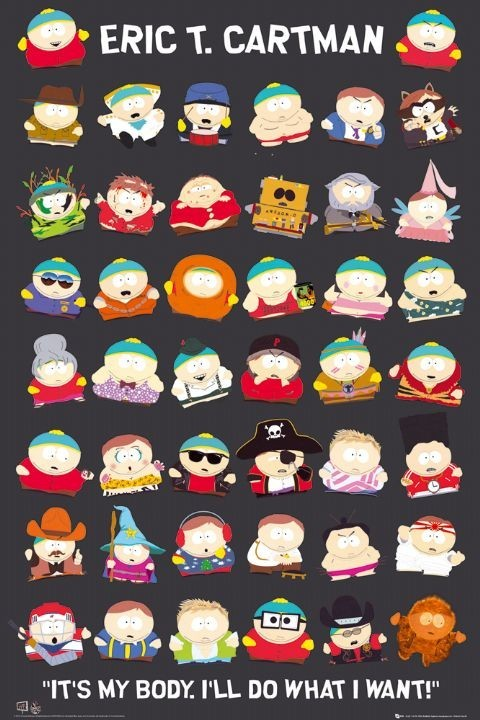 Plakat SOUTH PARK - cartman