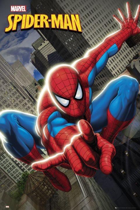 Plakat SPIDER-MAN - swinging