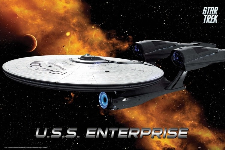 Plakat STAR TREK - enterprise