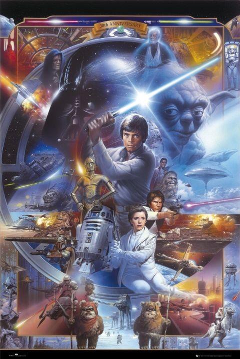 Plakat STAR WARS - 30th anniversary