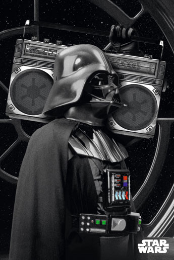 Plakat Star Wars - darth vader boombo