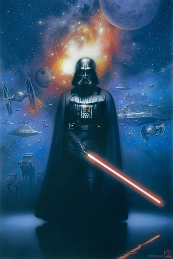 Plakat STAR WARS - darth vader