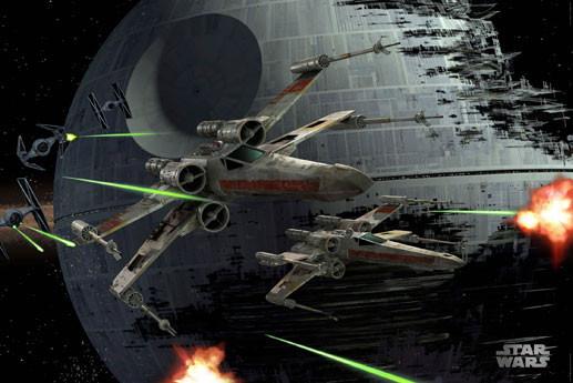 Plakat STAR WARS - Death star