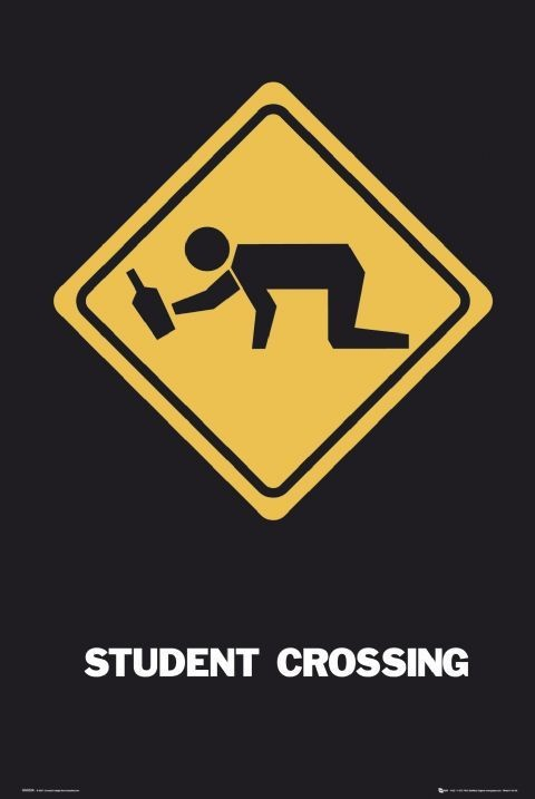 Plakat Student crossing - GB