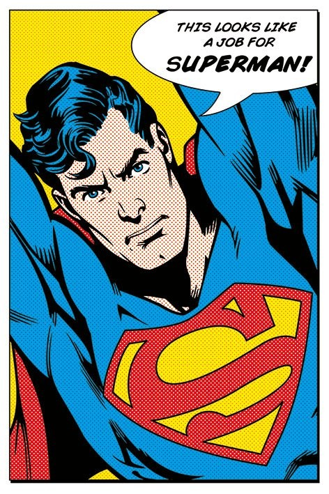 Plakat SUPERMAN - looks like a job for