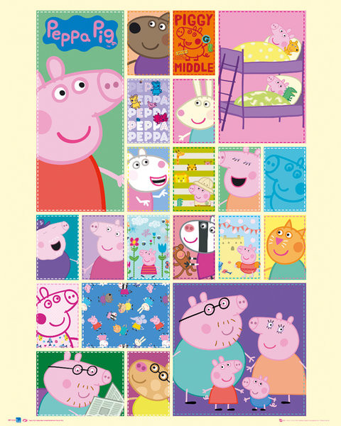 Plakat Świnka Peppa (Peppa Pig) - Grid