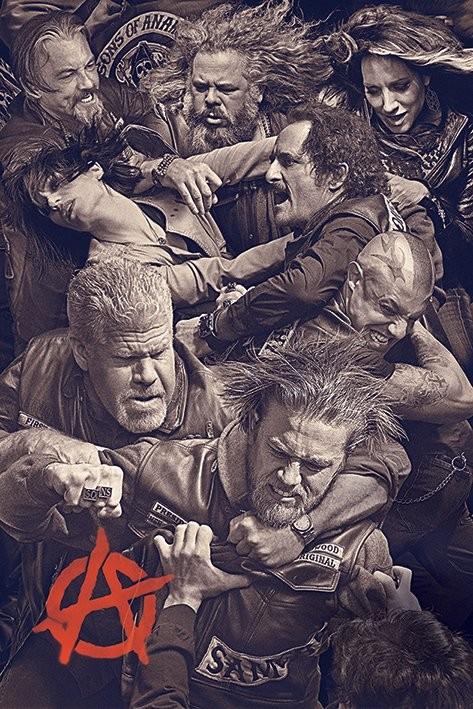 Plakat Synowie Anarchii - Fight