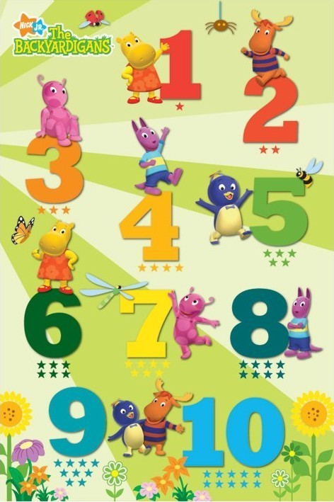 Plakat THE BACKYARDIGANS - counting