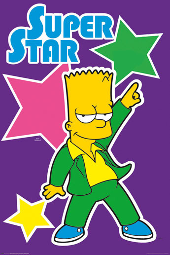 Plakat THE SIMPSONS - superstar