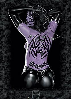 Plakat The temptress - woman tattoo