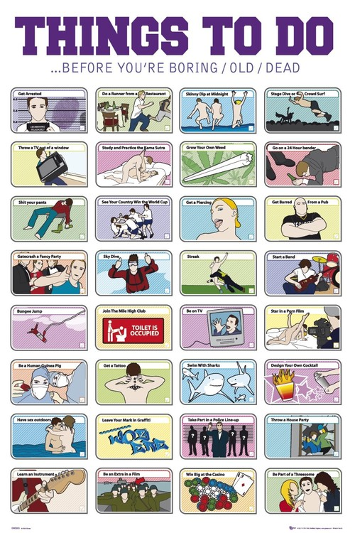Plakat Things to do