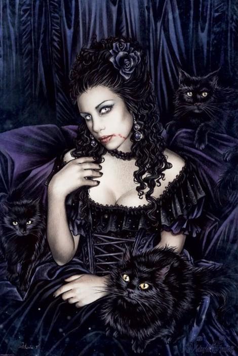 Plakat Victoria Frances - black cat