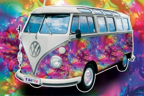 Plakat VW Volkswagen Californian camper - love