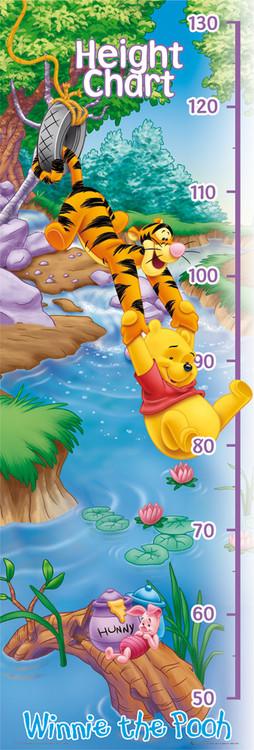 Plakat WINNIE THE POOH - heigh chart