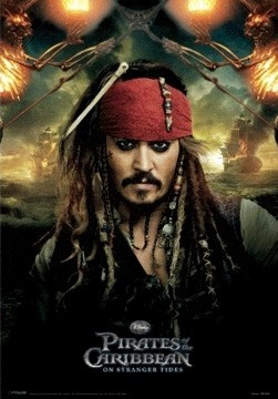 PIRATES OF THE CARIBBEAN 4 - jack  3D Poster