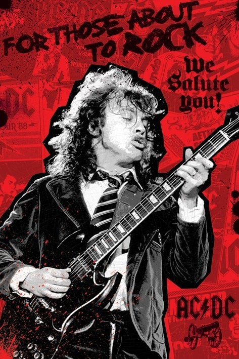 ac dc for those about to rock poster sold at europosters. Black Bedroom Furniture Sets. Home Design Ideas