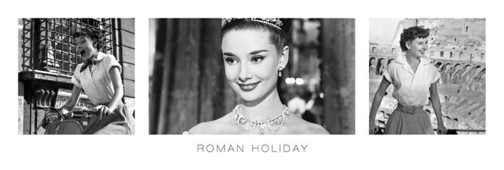 AUDREY HEPBURN - roman holiday triptych posters | photos | pictures | images