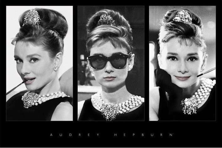 audrey hepburn triptych poster sold at europosters. Black Bedroom Furniture Sets. Home Design Ideas