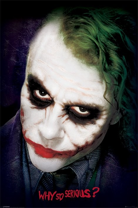 Batman: The Dark Knight - Joker Face Poster | Sold at