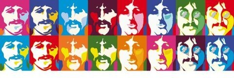 BEATLES - sea of colour posters | photos | pictures | images