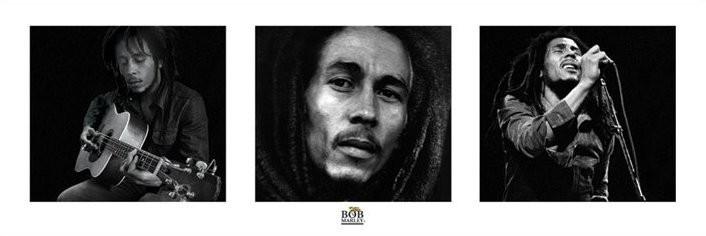 Bob Marley - 3 images (B&W) Poster, Art Print