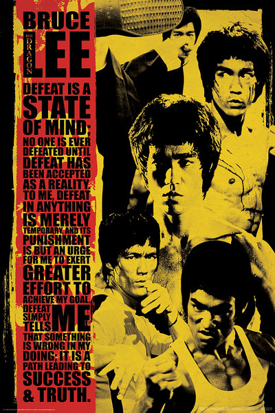Bruce Lee - Collage Poster, Art Print