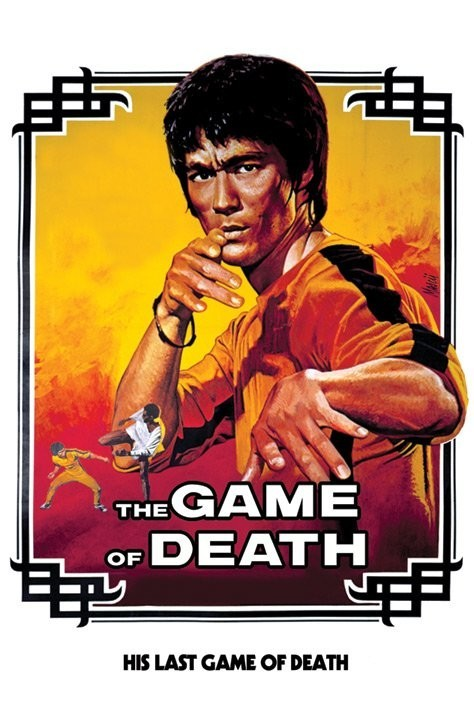 Bruce Lee - game of death/white Poster, Art Print