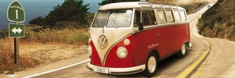 Californian Camper - Route one  Poster, Art Print
