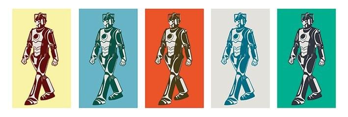 Doctor Who - Walking Cyberman Poster, Art Print