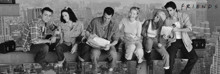 Friends - Lunch on a skyscraper Poster, Art Print