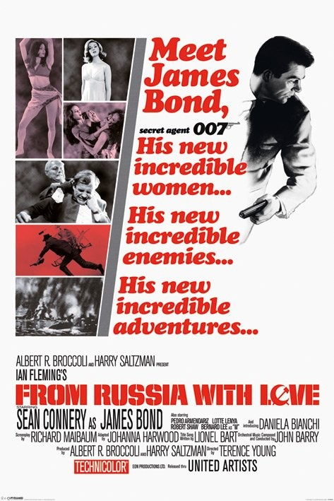JAMES BOND 007- from russia with love Poster, Art Print