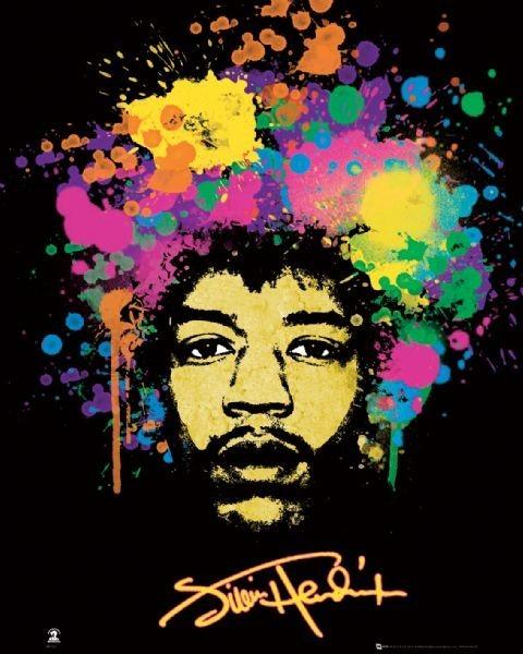 Jimi Hendrix Purple Haze Poster Jimi Hendrix Poster Art Print