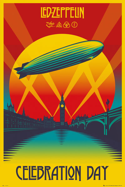 Magnets For Cars >> Led Zeppelin - Celebration Day Poster | Sold at Europosters
