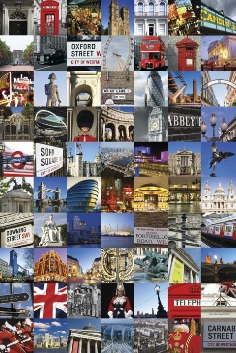 Magnets For Cars >> London - collage Poster | Sold at Europosters